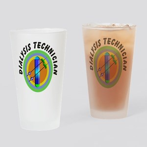 dialysis tech 2 emblem Drinking Glass
