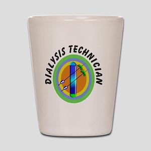 dialysis tech 2 emblem Shot Glass