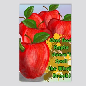 ONE-BAD-APPLE-16x20-SMALL Postcards (Package of 8)