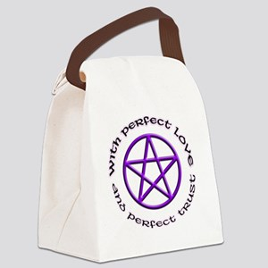 perfect love and perfect trust Canvas Lunch Bag