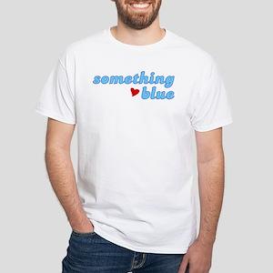 Something Blue White T-Shirt