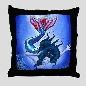 Part Fish Throw Pillow