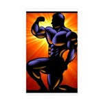 BODYBUILDING POSE Rectangle Sticker