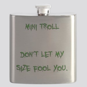 mini troll green Flask