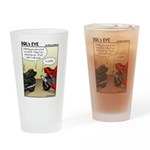 Funny Motorcycle Drinking Glass