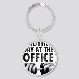 another-day-in-the-office Round Keychain