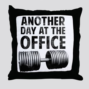 another-day-in-the-office Throw Pillow