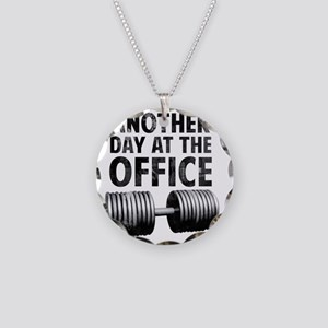 another-day-in-the-office Necklace Circle Charm