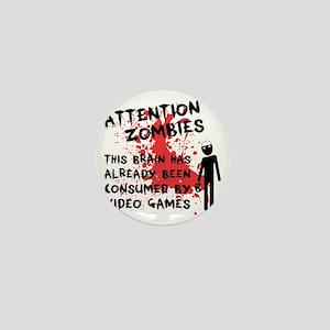 attention Mini Button