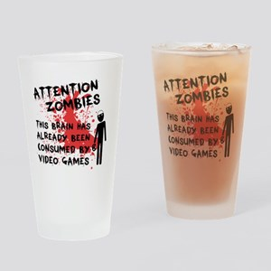attention Drinking Glass