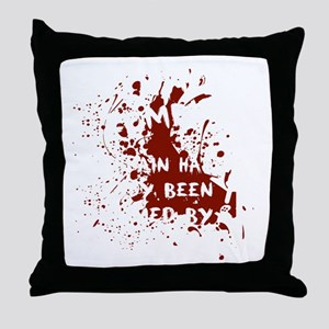 attention wh Throw Pillow