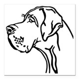 Great dane Square Car Magnets