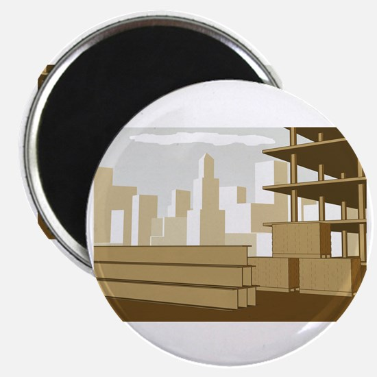 Structural_Engineering_Construction_Site_Wh Magnet