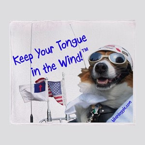 Chewy Keeps His Tongue in the Wind f Throw Blanket