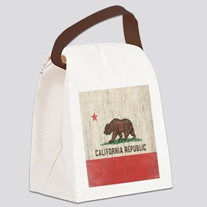 VintageCaliforniaRe1SC Canvas Lunch Bag