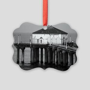 Manhattan beach pier Picture Ornament