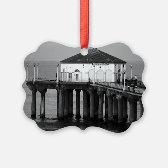 Manhattan beach pier Ornament
