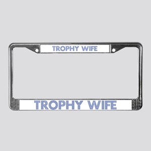 Trophy W Blue License Plate Frame