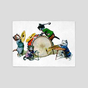 Thiele Jazz Cats copy 5'x7'Area Rug