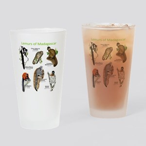 Lemurs of Madagascar Drinking Glass