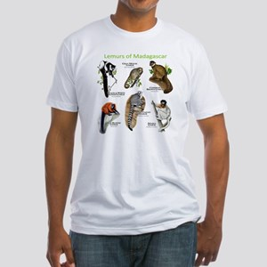 Lemurs of Madagascar Fitted T-Shirt