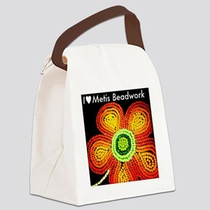 ILoveMetisBeadwork Canvas Lunch Bag