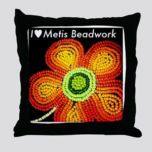 ILoveMetisBeadwork Throw Pillow