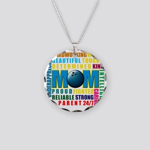 What is a Bowling Mom copy Necklace Circle Charm