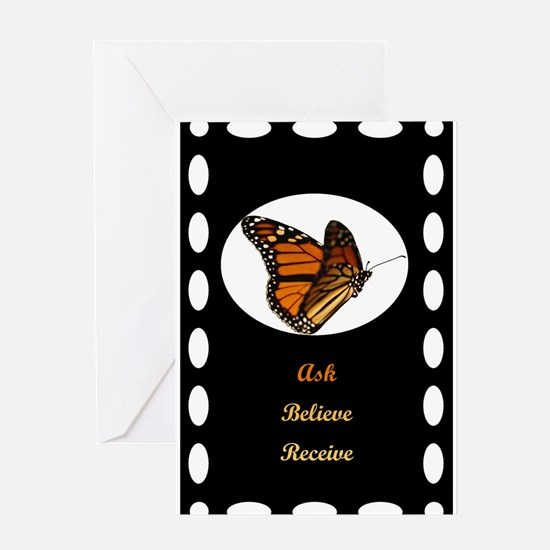 12x12 ask believe receive Greeting Cards