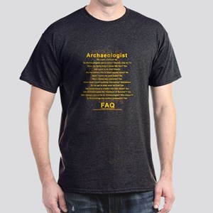 Archaeologist FAQ on Cascajal Block Dark T-Shirt