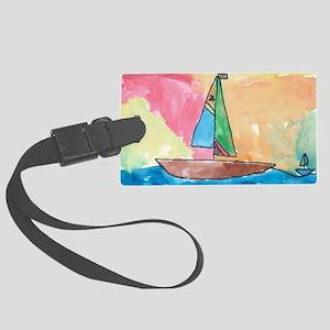 WatercolorSail Large Luggage Tag