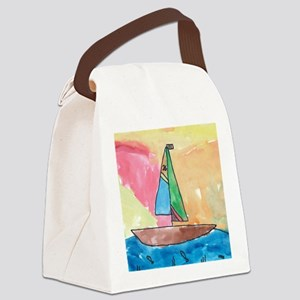 WatercolorSail Canvas Lunch Bag