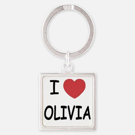 OLIVIA Square Keychain