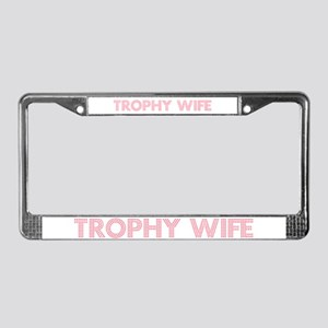 Trophy W Pink License Plate Frame