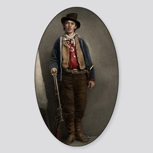 16X20 Billy the Kid Color Print Sticker (Oval)