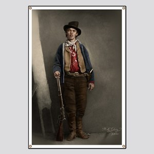 23X35 Billy the Kid Color Print Banner
