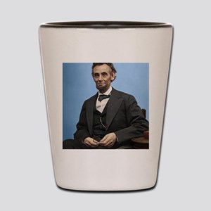 9X12 Abe Lincoln Color Print Shot Glass