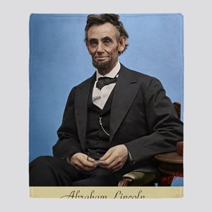 14X10 Abe Lincoln Color Print Throw Blanket