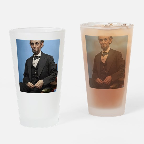 23X35 Abe Lincoln Color Print Drinking Glass