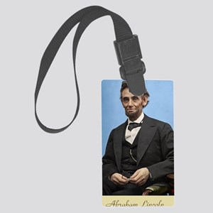 23X35 Abe Lincoln Color Print Large Luggage Tag