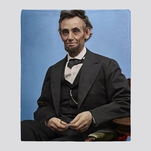 16X20 Abe Lincoln Color Print Throw Blanket