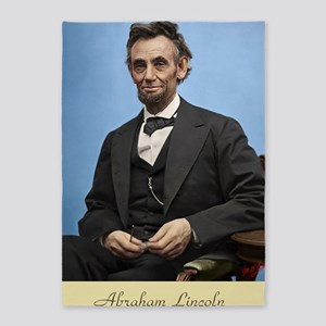 23X35 Abe Lincoln Color Print 5'x7'Area Rug