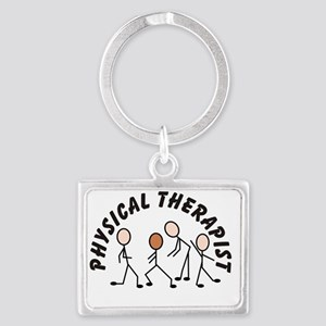 Physical therapist 1 all black Landscape Keychain