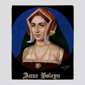 14X10 Anne Boleyn Print Throw Blanket