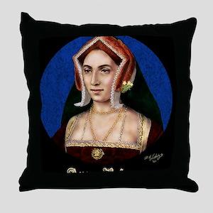 14X10 Anne Boleyn Print Throw Pillow