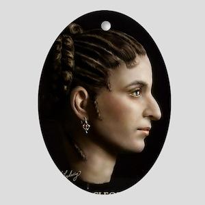 23X35 Cleopatra VII Print Oval Ornament