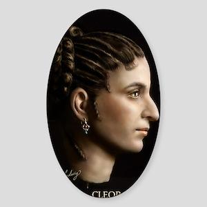 23X35 Cleopatra VII Print Sticker (Oval)