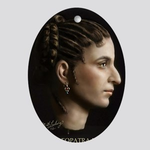 9X12 Cleopatra VII Print Oval Ornament