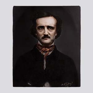 16X20 Edgar Allan Poe Print Throw Blanket