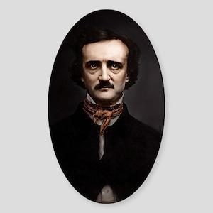 16X20 Edgar Allan Poe Print Sticker (Oval)